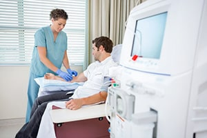 Patient Getting Dialysis